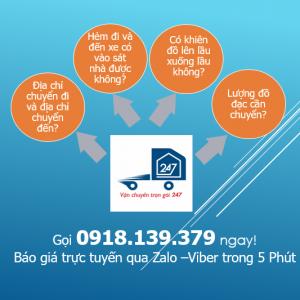 Bảng giá dịch vụ chuyển nhà