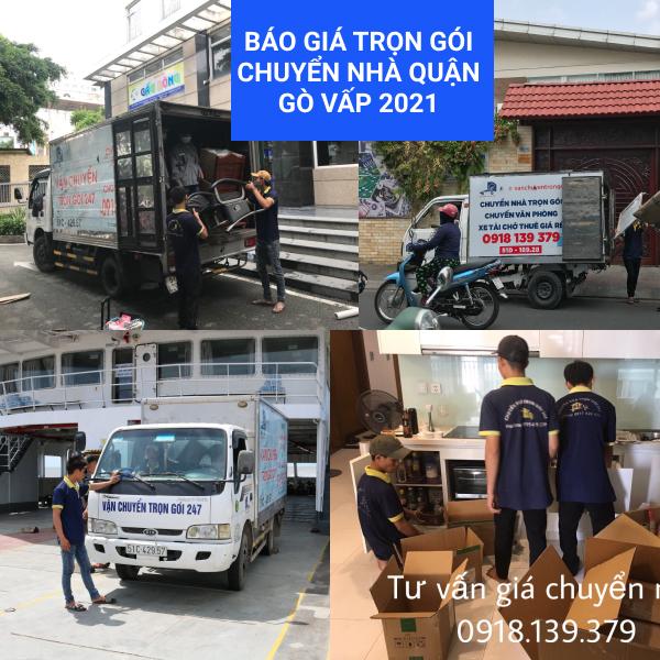 báo giá trọn gói dịch vụ chuyển nhà quận Gò Vấp 2021