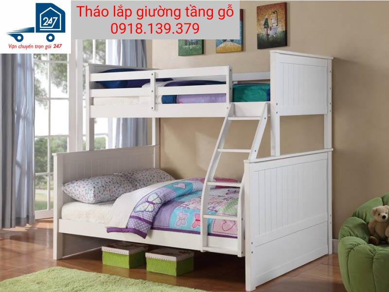 Cách tháo lắp giường tầng gỗ cho bé